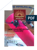 Physics Investigatory on newtonian telescope class 12