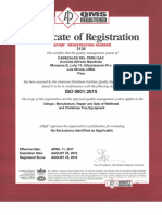 Certificate ISO 3136