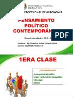 1era Clase de Pensamiento Politico Contemporaneo