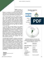 Argentina – Wikipédia, A Enciclopédia Livre