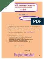 Cuadernillo soporte para Encuentro de Palabra de Vida - Abril 2019
