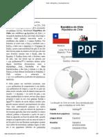 Chile – Wikipédia, A Enciclopédia Livre
