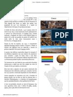 Cusco – Wikipédia, A Enciclopédia Livre