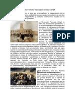 Qué Influencia Tuvo La Revolución Francesa en América Latina
