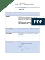 plan de leccion - ciclo de agua