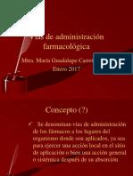 Vìas de Administracion Farmacológica
