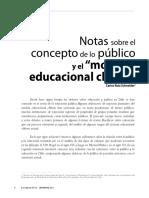 Notas Sobre El Concepto de Lo Público y El Modelo Educacional Chileno (Carlos Ruiz Schneider)
