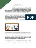 Texto Expositivo La Contaminacion Ambienta