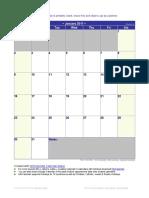 2011 Monthly Calendar
