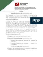 Acta Municipal Directorio Del Partido 2017