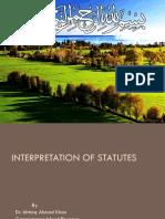 Interpretation of statute