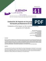 Evaluacion de Impacto en programas de Formacion Profesional