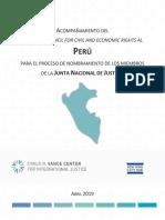 Acompañamiento Del Lawyers Council Al Perú Para El Proceso de Nombramiento de Los Miembros de La Junta Nacional de Justicia