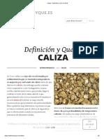 Caliza - Definición y Que Es 2019