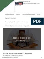Adiós Al Negocio de Las Artes Marciales - 4ryu