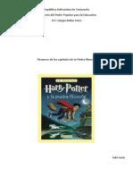 Resumen de Harry Potter La Piedra Filosofal