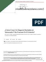 ¿Cómo Crear Un Negocio Rentable en Venezuela Y No Fracasar_.pdf