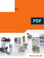 Terminal blocks Catalogue 2018/2019 Let's connect. Weidmuller