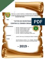 Trabajo Academico Actos de Investigacion Contra El Crimen Organizado