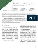 Beneficios y Riesgos de Las Aplicaciones Del Electromagnetismo en El Mundo Moderno