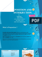 Preposition and interjection