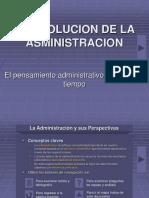 Clase 2 Gerencia La Evolucion de La Administracion Ustabuca