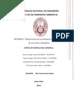 INFORME N°2- Determinación de parámetros geomorfológicos de una cuenca hidrográfica