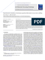 Experimental Evaluation of Minimum Quantity Lubrication in Near Micro-milling