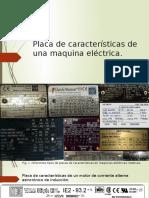 Placa de Características de Una Maquina Eléctrica