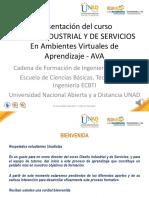 Presentacion Del Curso Diseno Industrial y de Servicios Version AVA