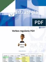 Verbos Regulares FGV_Estratégia Concursos