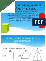 Volumen de Cubos, Prismas y Piràmides Rectos
