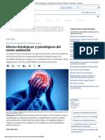 Efectos Fisiológicos y Psicológicos Del Estrés Ambiental