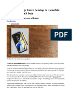 Samsung Trae El Escritorio de Linux a Sus Dispositivos Móviles Con DeX Beta