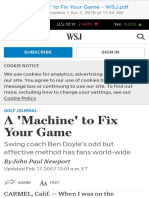 A 'Machine' to Fix Your Game - WSJ