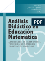Luis Rico - Análisis Didáctico en Educación Matemática