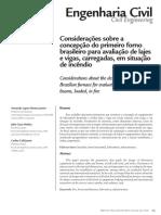 Considerações sobre a concepção do primeiro forno brasileiro para avaliação de lajes e vigas, carregadas, em situação de incêndio