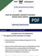 Mentors Orientation