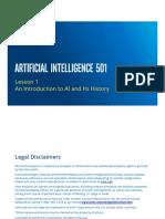 AI 501 - Lesson 1 - Intro to AI
