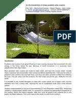 Termoformação de chapas plásticas para fogões solares