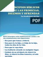 PRINCIPIOS BÍBLICOS SOBRE LAS PRIMICIAS, DIEZMOS Y.ppt