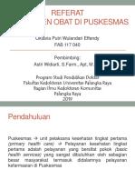 Manajemen Obat Pkm