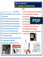 DO's and DON'Ts Working in Confined Space