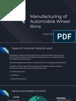 Manufacturing of Rims