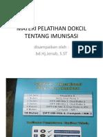 Materi Pelatihan Dokcil Tentang Imunisasi