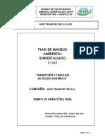 Modelo de Plan de Manejo Ambiental Semidetallado Safety Transport Peru