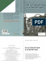 Verschave François-Xavier - De la Françafrique à la Mafiafrique.pdf