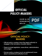 Official Policy Makers