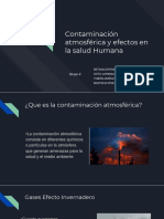 Contaminación Atmosférica y Efectos en La Salud Humana....