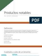 1.a. Productos Notables y Factorización
